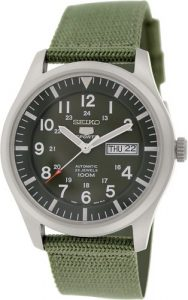 Seiko 5 SNZG09K1 Sport Analog Automatic Canvas Watch