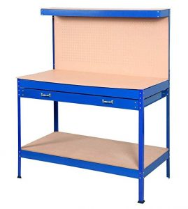 Goplus Steel Workbench Tool Storage Work Bench Workshop