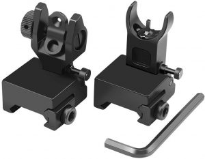 Feyachi Flip Up Iron Sight Front Rear Sight